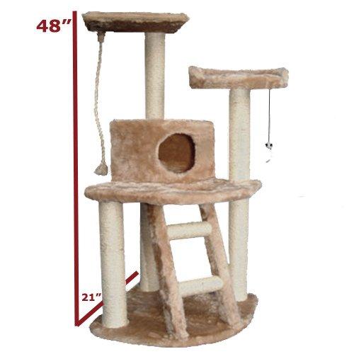 48″ Casita Cat Furniture Tree Condo House Scratcher Pet Furniture By Majestic Pet, My Pet Supplies