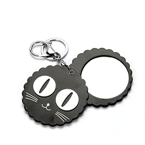 MeliMe Cute Cat Compact Mirror Keychain Bag Car Key - Keychain Compact Mirror