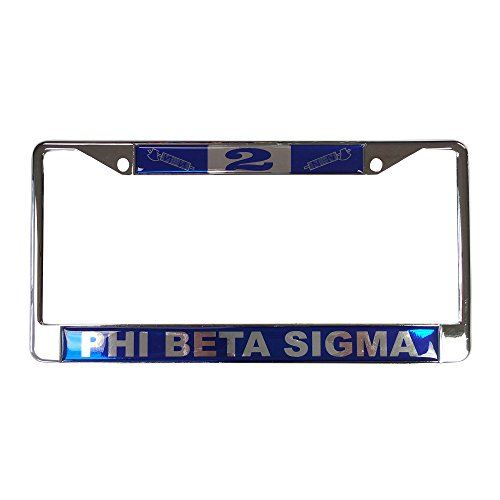 Phi Beta Sigma Fraternity Line Number # Metal License Plate Frame For Front Back of Car (#2 License Plate - Miami To Valdosta