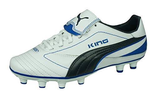 PUMA King Finale I FG Womens Leather Soccer Boots/Cleats-White-8
