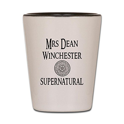 CafePress - Mrs. Dean Winchester Supernatural - Shot Glass, Unique and Funny Shot Glass by CafePress