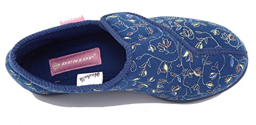 Dunlop Bluebell Womens Blumendruck Touch und Schließen Pantoffeln Marine