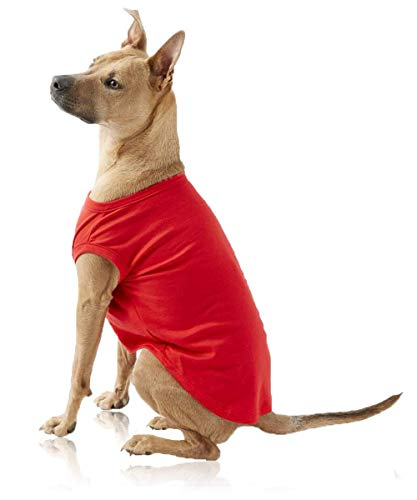 BigPaw Pet Dog T Shirt Medium Dogs Clothes Red XXL Shirts for Medium Dogs