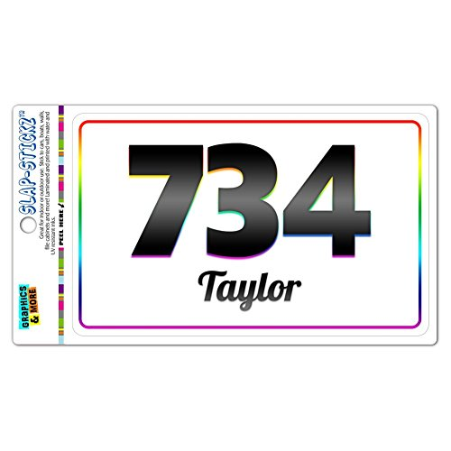 area-code-rainbow-window-laminated-sticker-734-michigan-mi-ann-arbor-ypsilanti-taylor