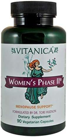 Vitanica Women's Phase II, Menopause Support, Vegan, 90 Capsules