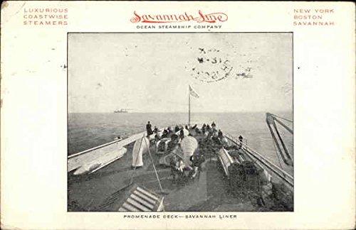 - Savannah Line Ocean Steamship Company, Promenade Deck Steamers Original Vintage Postcard