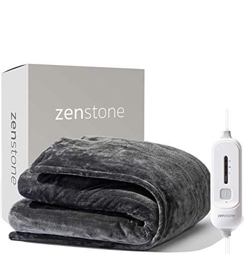 zenstone | Swedish Heated Throw with Italian Micromink | New