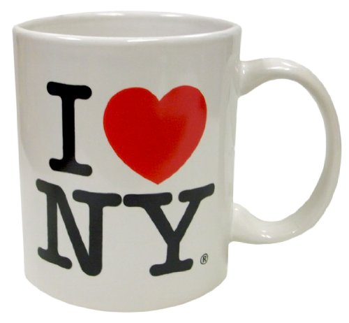 I Love NY White 11 oz Coffee Mug, Microwave and Dishwasher Safe