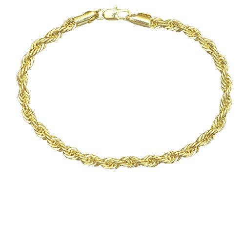 14K Italy Gold Plated 3mm Herringbone Anklet Chain - Anklet Herringbone