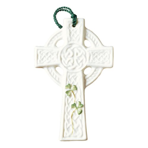 Belleek Celtic Cross (Belleek 4-Inch Saint Kieran's Cross Ornament)