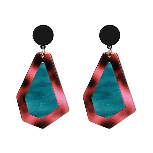IUTING Elegant Resin Drop Dangle Earrings for Women Boho Wedding Party Jewelry Fashion Charm Pendant
