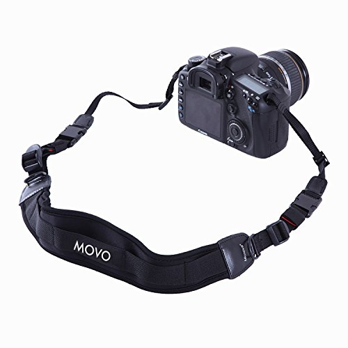 Movo Photo NS-1 Shock-Absorbing Padded Neoprene Camera Neck Strap with Quick - Wide Strap Canon