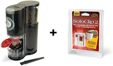 Solofill sologrind 2-in-1 automático único servir molinillo de ...