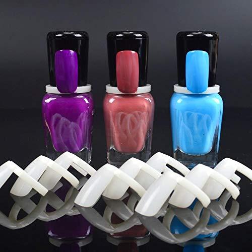 50 Pcs Nail Polish UV Gel Color Pops Display Natural Nail Art Ring Style Nail Tips Chart Full Nail