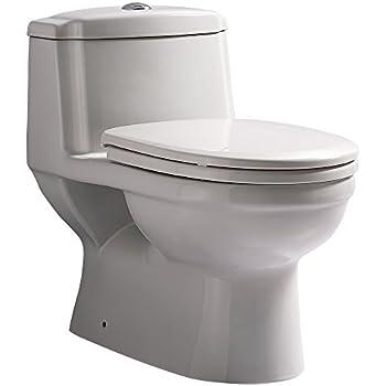 One Piece Dual Flush Toilet Black Amazon Com