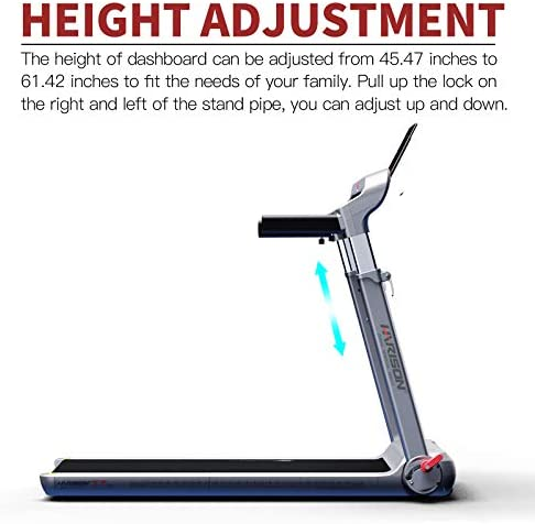 HARISON Folding Treadmill Portable Electric Running Machine 300 LBS Capacity with LCD Display, Device Holder and Adjustable Height for Home Cardio Workout 4
