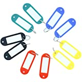 50 Pcs Plastic Keychain Key Tags ID Label Name Tags Split Ring