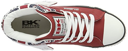 Union Alta Knights 02 Unisex Adulti British da Rosso Scarpa Jack Red E8ZTqR1q