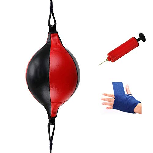 Sfeexun Double End Punching Bag, Boxing Speed Ball with Air Pump and A Pair of Hand Protectors, Speed Training Bag…