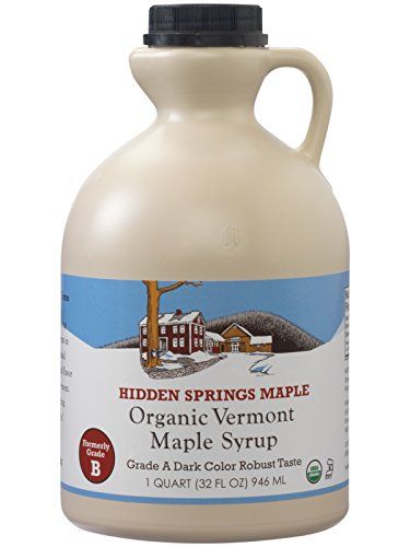 Hidden Springs Organic Vermont Maple Syrup, Dark Robust (Formerly Grade B), 32 Ounce