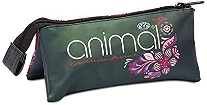 Estuche de Animal con tres bolsillos - Miama Peacoat: Amazon.es: Oficina y papelería