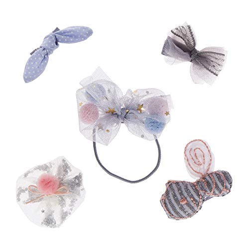 JIAHANG Hair Accessories Set - Hair Bows with Alligator Clips for Baby Girls Infants Newborn Toddlers Kids 5pcs Blue