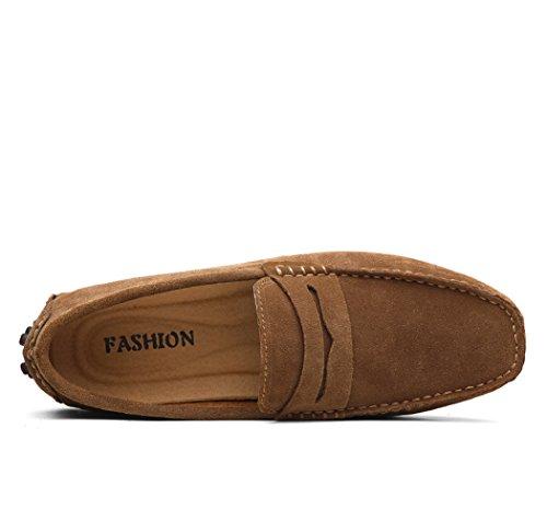 Oscura Zapatos Grises De Hielo 43 Caqui Conducción Color De De Los De Mocasines Gamuza Hombres RtRqwrz