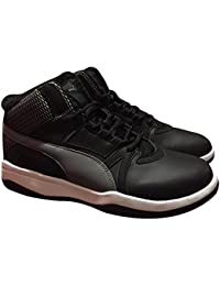 Mens Rebound Street EVO Fur Black Mid Basketball Walking Sneaker Shoes