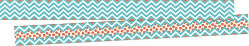 (Barker Creek Double-Sided Border 2 Pack - Chevron Turquoise (BC3692))