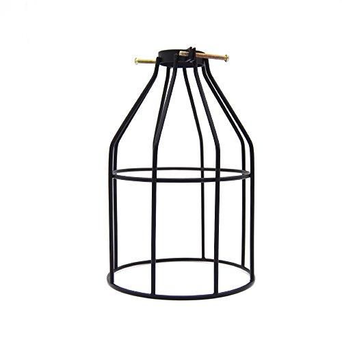 Frideko Vintage Industrial Black Metal Birdcage Lamp Shade Cover for Loft Ceiling Pendant / Wall Light (Type (1 Light Bracket Square Shade)