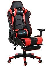 Storm Racer ergonomico Gaming sedia girevole per ufficio computer con schienale alto, con poggiapiedi regolazione poggiatesta e supporto lombare sedia Racing
