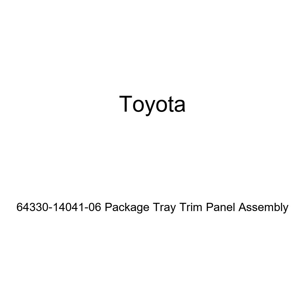 Toyota Genuine 64330-14041-06 Package Tray Trim Panel Assembly