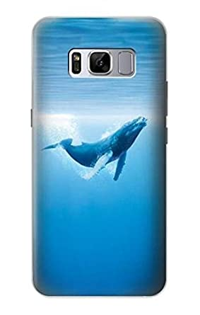 Amazon Com R0843 Blue Whale Case Cover For Samsung Galaxy S8 Cell