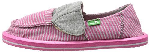Sanuk Kids Pick Pocket Tee Sidewalk Surfer Kids (Toddler/Little Kid),Fuchsia Stripes,11 M US Toddler by Sanuk (Image #5)