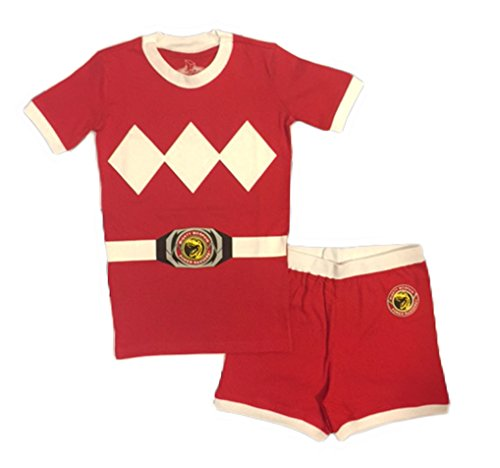 Power Rangers Cotton Costume Pajama Short Set, Red, 6 -