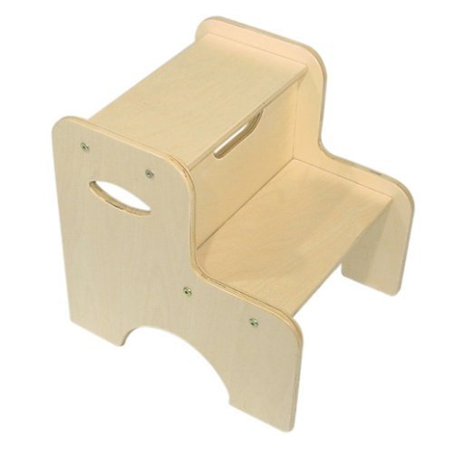 KidKraft Two-Step Stool - Natural (Renewed) (Furniture Step Kidkraft Stool)