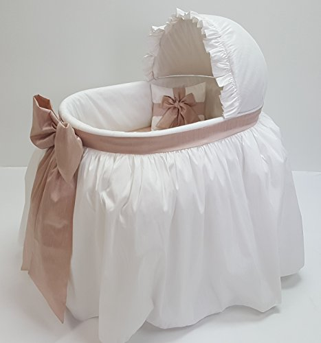 Heirloom Corp. Sweet Angel Fancy Baby Bassinet Combo (White Blush)
