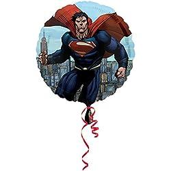 Amscan - Globo redondo diseño Superman Man Of Steel