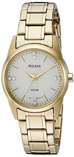 Pulsar Women's PY5004 Solar Dress Analog Display Japanese Quartz Gold (Pulsar Gold Wrist Watch)
