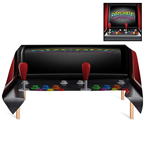 SATVSHOP Vintage Tablecloths /70x132 Rectangular,Video Games Arcade Machine Retro Gaming Fun Joystick Buttons Vintage 80s 70s Electronic for - Vintage 1970s Button