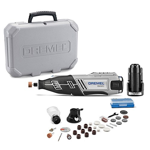 Dremel 8220-2/28 12-Volt Max Cordless Rotary Tool with 28 Accessories (Safety Cut Speed Router)