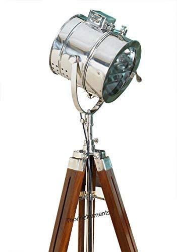 TieetDye Vintage Marine Floor Lamp, Nautical Spot Studio Tri