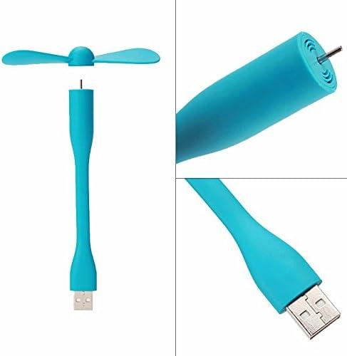 Yangcw Ventilador USB Flexible Mini Ventilador portátil y lámpara ...