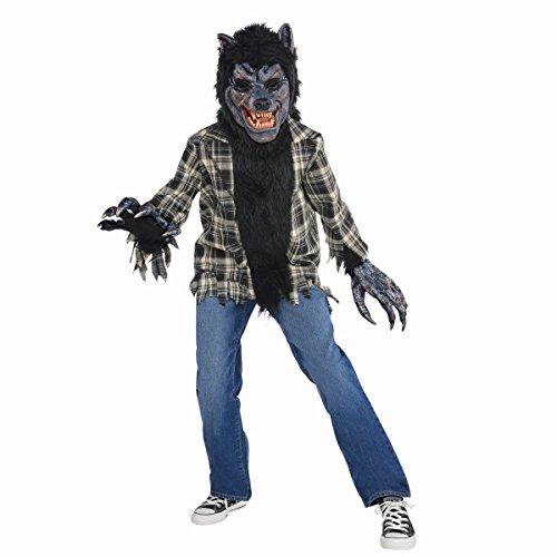 Children's Rabid Werewolf Costume Size Medium (Halloween Costumes For Family Of 8)