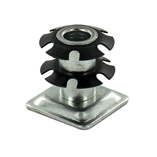 Outwater Square Double Star Metal Caster Insert with Thread DS71-325. Thread: 5/16-18, Outside Diameter of Tube: 1
