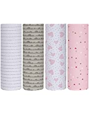 Cuddles & Cribs 100% Cotton Flannel Warm Receiving Blankets/Burp Cloth for Baby Girl or Baby Boy - One Size