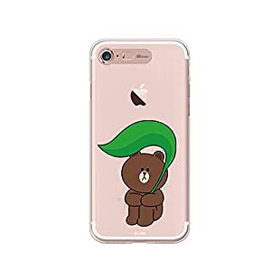 LINE FRIENDS Lighting iPhone 7 Plus Case One Size - Rocket Delivery(within 5 days) (Brown Rain)