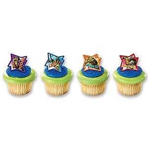 DecoPac Teenage Mutant Ninja Turtles Cupcake Rings (12 Count)
