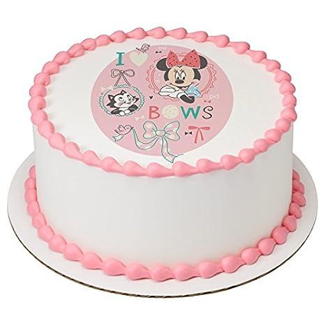 Amazon.com: Minnie mouse I Love lazos comestible decoración ...