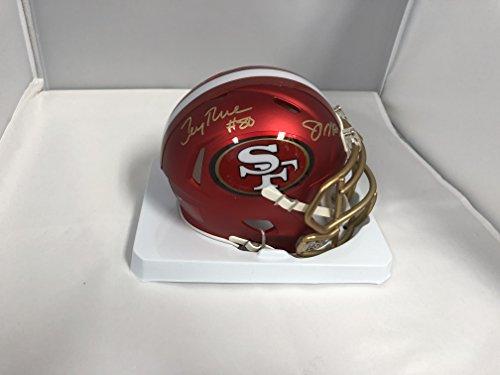 Joe Montana Jerry Rice Dual Signed Autographed 49ers RARE BLAZE SPEED Mini Helmet GTSM Montana and RICE Holograms & COA